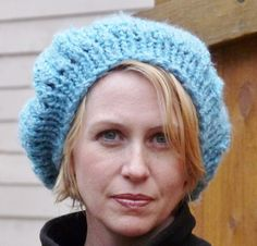 Ladies Blue Beanie Hat by lovemyknits on Etsy, $18.00