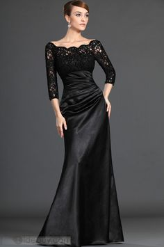 Attractive Lace Trumpet/Mermaid Off-the-Shoulder Floor-length Mother of the Bride Dresses♥♥3