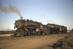 Union Pacific 1938 and 3823 at Council Bluffs, September : trains Council Bluffs, Pacific Homes, Union Pacific Railroad, Steam Railway, Old Photography, Train Pictures, Heavy Truck, Steam Engine, Locomotive
