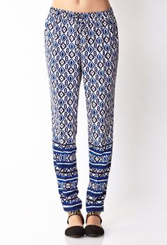 Perfectly Posh Scarf Print Pants   FOREVER21 - 2034859798