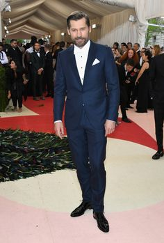 Nikolaj Coster-Waldau is dressed to impress in Ermenegildo Zegna at the Manus x Machina: Fashion In An Age Of Technology Met Gala at the Metropolitan Museum of Art on May 2, 2016 in New York City.