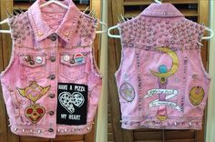 """I should totally make one so I could """"fit in"""" with the Fella's friends. hahaha ------- Sailor Moon Vest"""