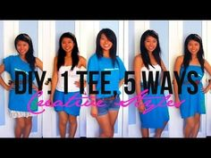 "♥ ""LIKE"" this video if you would like to see a DIY high low hem skirt    Learn how I transform a basic t-shirt into a high-low hem top, a bubble skirt, a midi skirt, a strapless dress, and one shoulder dress. No sewing is required!    ♥ Shop my Online Fashion Store!!  http://www.glamboutique.weebly.com    ♥ Business Contact   Contact me at - lx3lally@gm..."