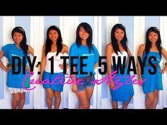DIY: 5 Ways to Transform One T-Shirt (No Sewing) - YouTube