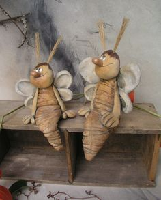 Cabinet full of moles . recy :-) / Seller& shop Jarmila Všetičková - Cabinet full of moles … recy :-] - Pottery Animals, Ceramic Animals, Clay Animals, Paper Clay, Clay Art, Fun Crafts, Diy And Crafts, Clay Fairies, Concrete Crafts