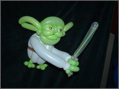 Yoda balloon art