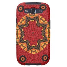 Orange Brown Flowery Trendy Abstract Pattern on smartphone cases