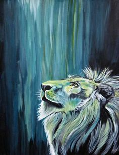 I would never get a lion tattooed lol, but I love the neon colors on a black background. My favorite is an Elvis painting in this fashion with shades of blue.