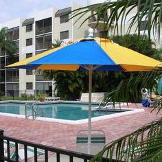 Fiberbuilt Market Umbrella Octagon 7.5 Feet Sunbrella Top #MarketUmbrellas #ShadingCooling #CozyDays