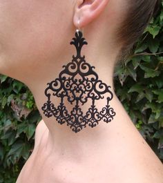 Brinco Alejandra #rubber_jewelry #jóias_de_borracha