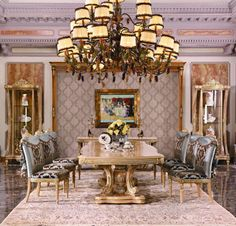 luxury dining table set and chairs. Dining Room Table, Dining Area, Dining Rooms, Luxury Home Furniture, Wood Carving, Tables, Chairs, Legs, Dinner