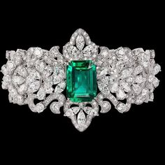 Emerald & Diamond Bracelet! #Emeralds #Jewelry #Bracelets