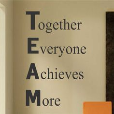 Inspirational Vinyl Wall Lettering Definition of TEAM Motivate Work Employees Quotes Custom Paint, Definitions, Hand Painted Canvas, Wall Canvas, Canvas Quotes, Wall Quotes, Pictures, Wall Lettering, Project Management