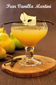 This seasonal cocktail recipe, Pear Vanilla Martini, is one your guests will love! Try this as a signature cocktail at your next winter party, garnished with a thin pear slice!