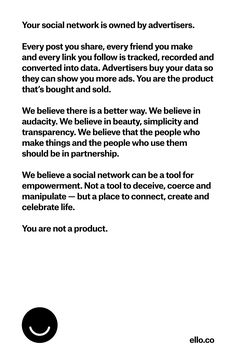 Simple, beautiful & ad-free. Read the manifesto: