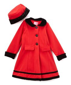 Another great find on #zulily! Red Fleece Swing Coat & Hat - Infant, Toddler & Girls #zulilyfinds
