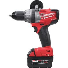 Milwaukee Hammer Drill/Driver Kit, In. Cheap Power Tools, Power Hand Tools, Milwaukee Tools, Milwaukee M18, Cordless Drill Reviews, Clean Tile Grout, Drill Brush, Used Woodworking Tools, Metal Gear