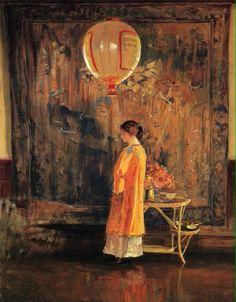☂ Paper Lanterns and Parasols ☂ Japonisme Art and Illustration - Guy Rose American Impressionism, Lantern Image, Art Nouveau, Art Japonais, Art Et Illustration, Paintings I Love, Rose Paintings, Art Database, Art Themes