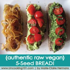 {raw vegan recipe} 5-Seed Bread (It's like… REAL… Bread!)