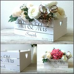 White Wooden Wedding Crates Great For Many Ideas Ideal Using As A Memory Box Too