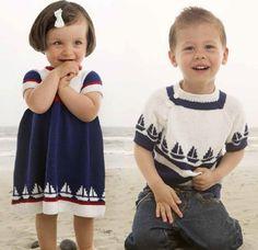 Nå får du gratis oppskrifter fra Familien på disse nydelige barneplaggene i maritim stil. Se mer info under. Knit Baby Dress, Only Child, Pulls, Baby Knitting, Barn, Baby Dresses, Children, Tunics, Mesh
