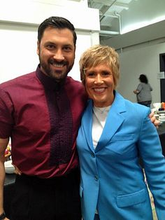 Maks looking handsome with fellow S18 contestant Diana Nyad