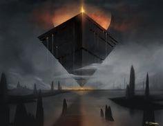 Obsidius by damie-m Fantasy Concept Art, Sci Fi Fantasy, Fantasy World, Dream Water, Arte Sci Fi, Sci Fi City, 3d Art, Cyberpunk City, Fantasy Art Women