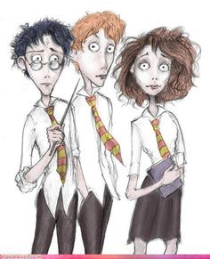 Tim Burton does Harry Potter o-o