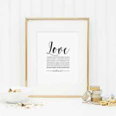 Bible Verse Printable  Corinthians 13:4-7 by AnimaDolce on Etsy