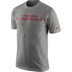Men s Arizona Cardinals Nike Heather Gray Wordmark T-Shirt 1e5834683