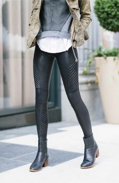 6295eb3896 Main Image - SPANX Faux Leather Moto Leggings Leather Pants, Leather,  Leather Tights