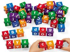 Snap-Together Letter Blocks at Lakeshore Learning
