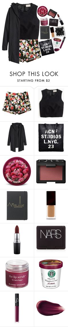 """I have died every day"" by nsrogsy3 ❤ liked on Polyvore featuring Retrò, J.Crew, H&M, The Body Shop, NARS Cosmetics, Serge Lutens Beauté, MAC Cosmetics, Sara Happ and Hourglass Cosmetics"