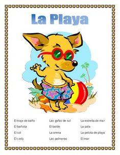 32 Playa Ideas Spanish Lessons Teaching Spanish Spanish Kids