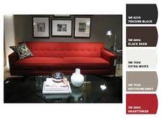 Resultado de imagen para imagenes de salas en gris con rojo