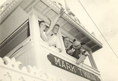 • Cousins Bill Krauch and Sybil Stanton were part of a revealing peek at the Magic Kingdom weeks before the park opened to the public. Walt Disney himself served as their host and tour guide.  Photo Sybil Stanton/Los Angeles Herald-Express