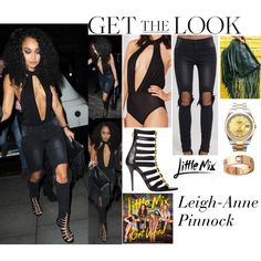 Leigh-Anne Pinnock With Perrie & Jade At The Club LIV In Manchester March.24.2016 by valenlss on Polyvore featuring polyvore, fashion, style, Balmain, Rolex, Cartier, CO and clothing