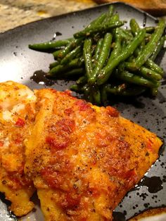 half tomato, half potato: Spicy Baked Cod - made this tonight. Didn't do a ton flavor wise. I would double the sauce next time. Seafood Dishes, Seafood Recipes, Cooking Recipes, Healthy Recipes, Baked Cod Recipes, Fresh Fish Recipes, Cod Fish Recipes, Halibut Recipes, Shellfish Recipes