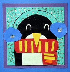 Penguin!!! this blog is full of great art ideas!