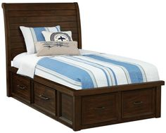 Sonoma Twin Sleigh Bed w/Stor. - Art Van Furniture