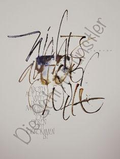 Liebe Schriftbegeisterte,   Brigitte hat auch dieses schöne     Schriftbild geschrieben.     Bis bald   Die Schriftkünstler