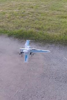 A homemade X-Wing Starfighter drone by Drone and Star Wars enthusiast Oliver C.