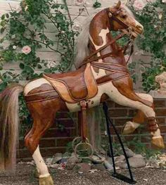 Image detail for -antique wood rocking horse Wood Rocking Horse, Antique Rocking Horse, Wooden Horse, Vintage Horse, Pretty Horses, Beautiful Horses, Carosel Horse, We Will Rock You, Painted Pony
