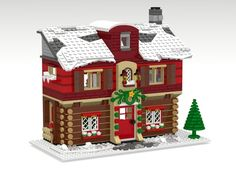 ~ Lego Mocs Holidays ~ Welcome to the Winter Guest House! Lego Christmas Sets, Lego Christmas Village, Lego Winter Village, Lego Village, Lego Projects, Projects To Try, The Winter Guest, Lego Calendar, Lego Gingerbread House