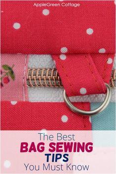 Sewing Basics, Sewing Hacks, Sewing Tutorials, Sewing Tips, Diy Bags Patterns, Handbag Patterns, Small Sewing Projects, Diy Purse, Fabric Bags