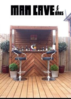 Love this outdoor bar - doesn't take up too much room