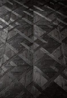 Recycled black parquet flooring by Henry Krokatsis [art project]