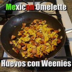Con salchichas ! Not weenies -.-