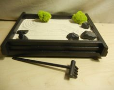 l large desk or table top zen garden with glass candle and stand diy kit