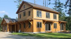 Home builder, Bensonwood has unveiled Unity Homes, a new line of precision built prefab homes that can achieve net-zero or Passive House status. Passive House, Prefab Homes, Home Builders, Custom Homes, New England, Unity, Building A House, Shed, Construction